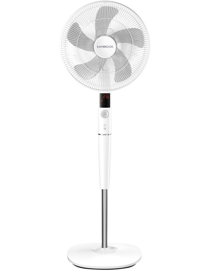40cm Pedestal Fan with DC Motor: White: KPF849WHT image 1