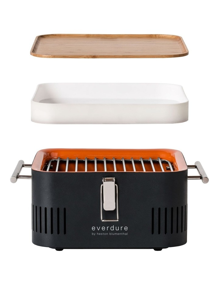 Portable Charcoal BBQ: Khaki HBCUBEK image 3