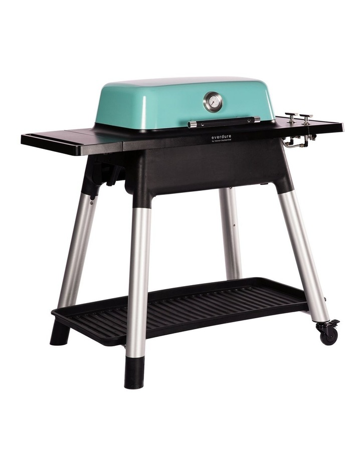 Force 2 Burner Hooded Gas BBQ with Stand Mint image 2