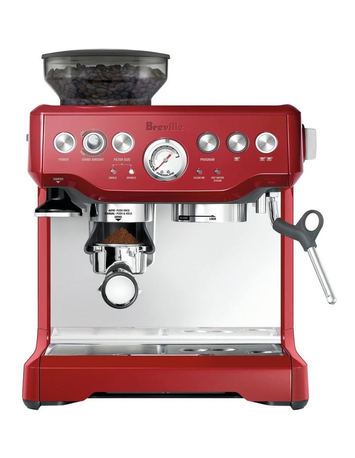the Barista Express Coffee Machine Cranberry BES870CRN image 1
