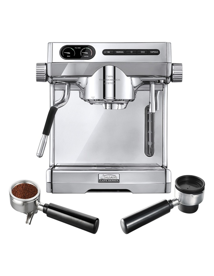 Cafe Series Coffee Machine With Multi Capsule Handle Stainless Steel EM7100 image 1