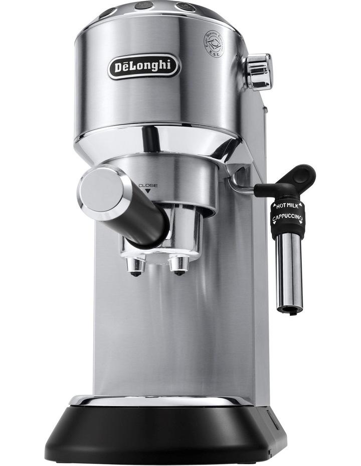 Dedica Pump Coffee Machine: Stainless Steel EC685M image 1