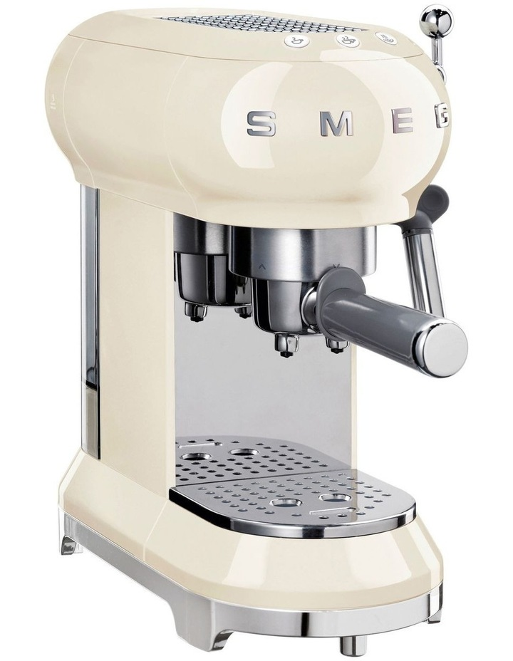 50s Style Manual Coffee Machine in Cream ECF01CRAU image 1