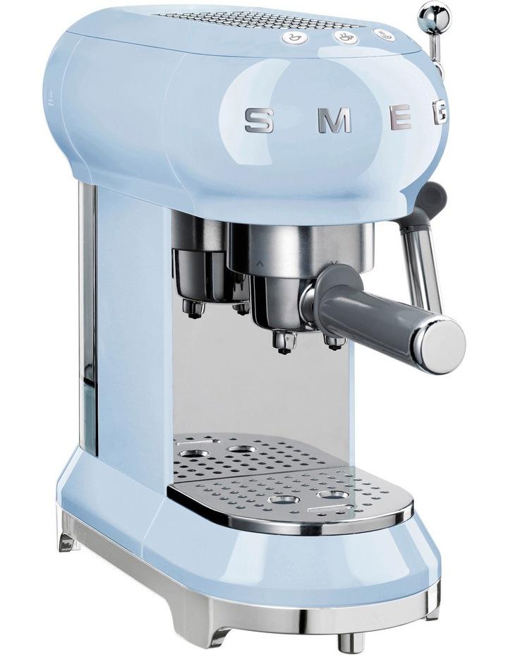 50s Style Manual Coffee Machine Blue ECF01PBAU image 1