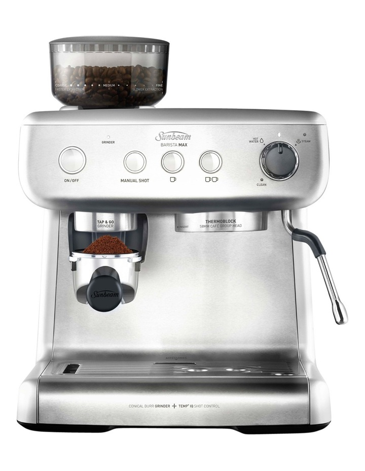 Sunbeam Barista Max Espresso Machine With Grinder Stainless Steel