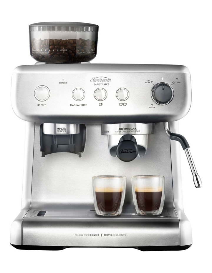 Barista Max Espresso Machine with Grinder: Stainless Steel EM5300 image 2