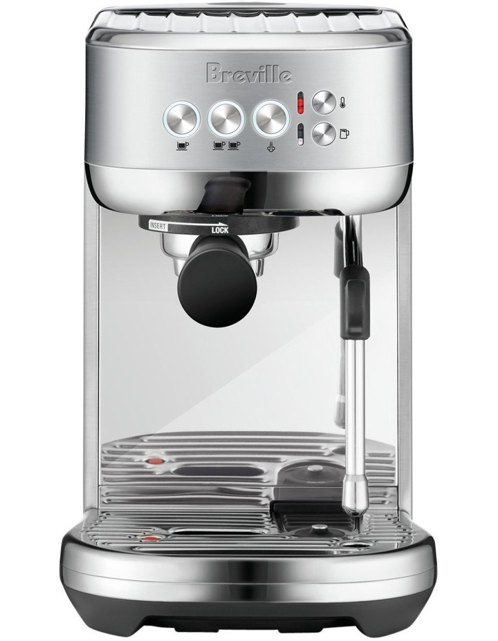 the Bambino Plus Coffee Machine Brushed Stainless Steel BES500BSS image 1