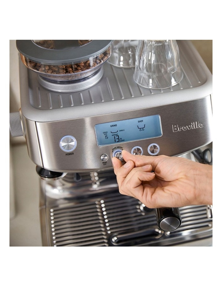 the Barista Pro Coffee Machine: Brushed Stainless Steel BES878BSS image 3