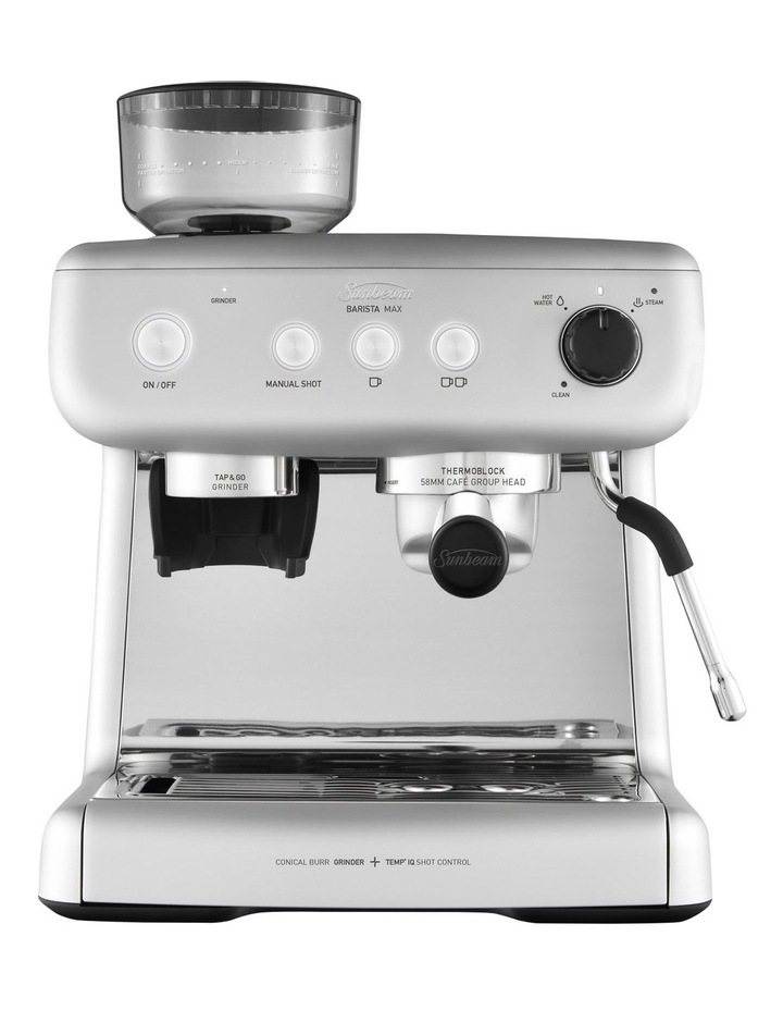 Barista Max Espresso Coffee Machine in High Gloss Silver EM5300S image 1