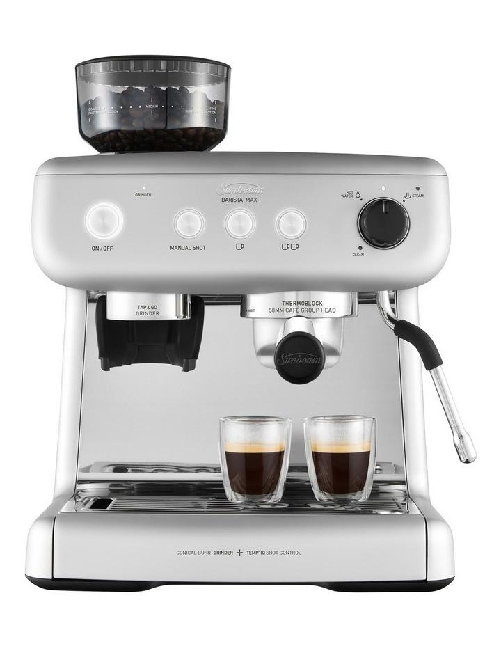 Barista Max Espresso Coffee Machine in High Gloss Silver EM5300S image 2