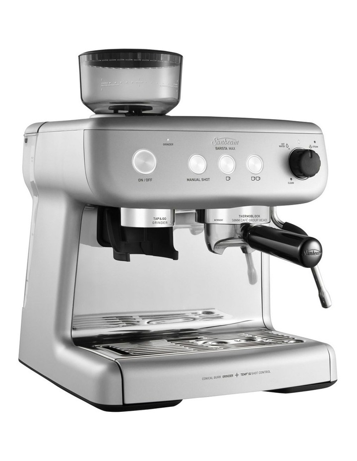 Barista Max Espresso Coffee Machine in High Gloss Silver EM5300S image 3