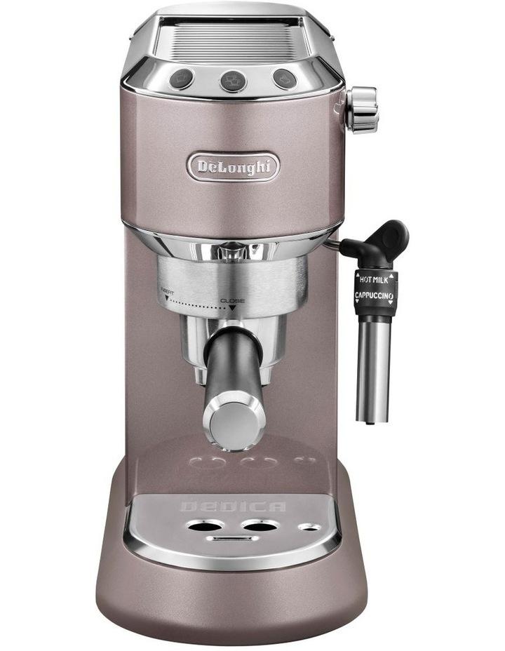 Dedica Metallics Pump Espresso Maker Pink EC785PK image 1