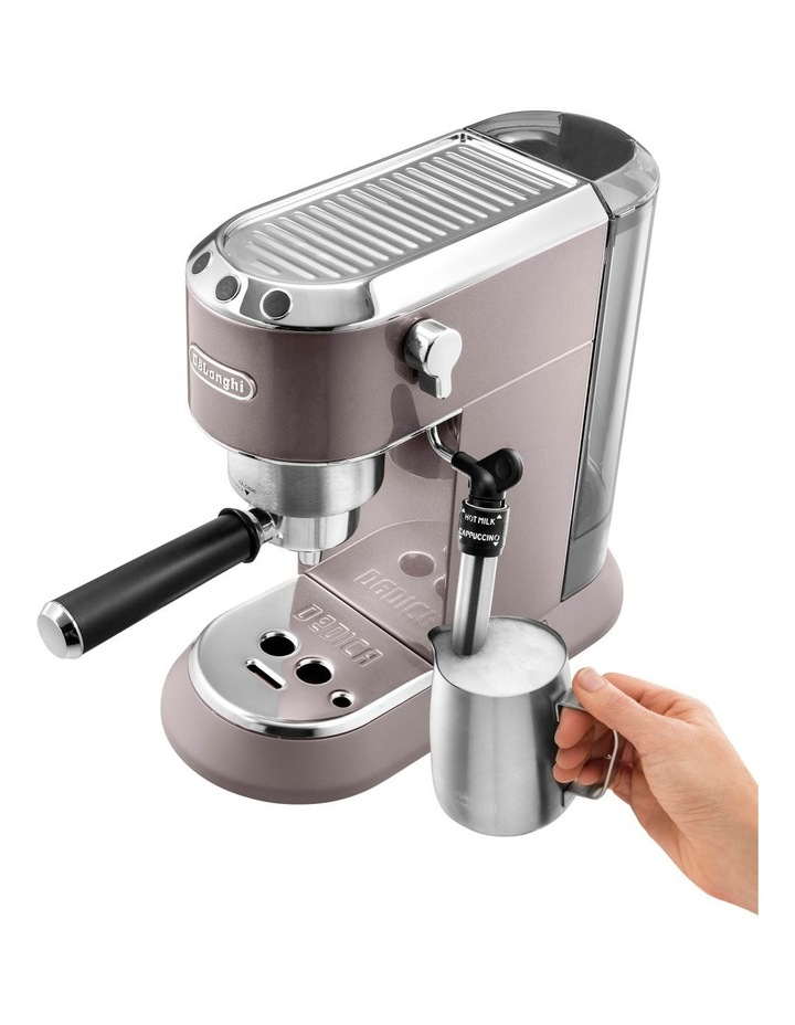 Dedica Metallics Pump Espresso Maker Pink EC785PK image 3