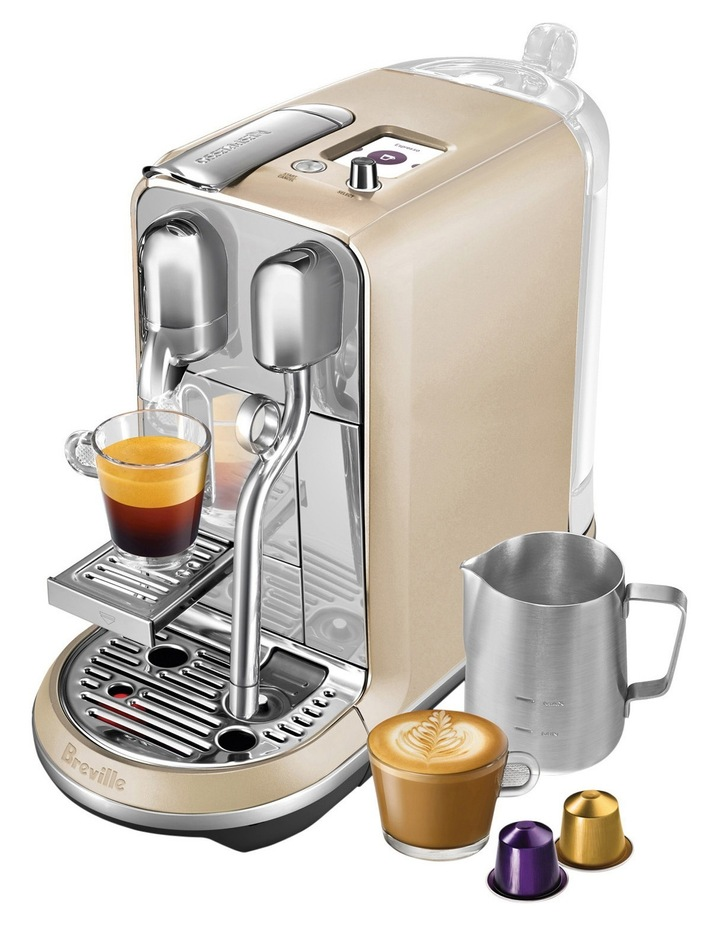 by Breville Creatista Capsule Coffee Machine: Royal Champagne: BNE600RCH image 3