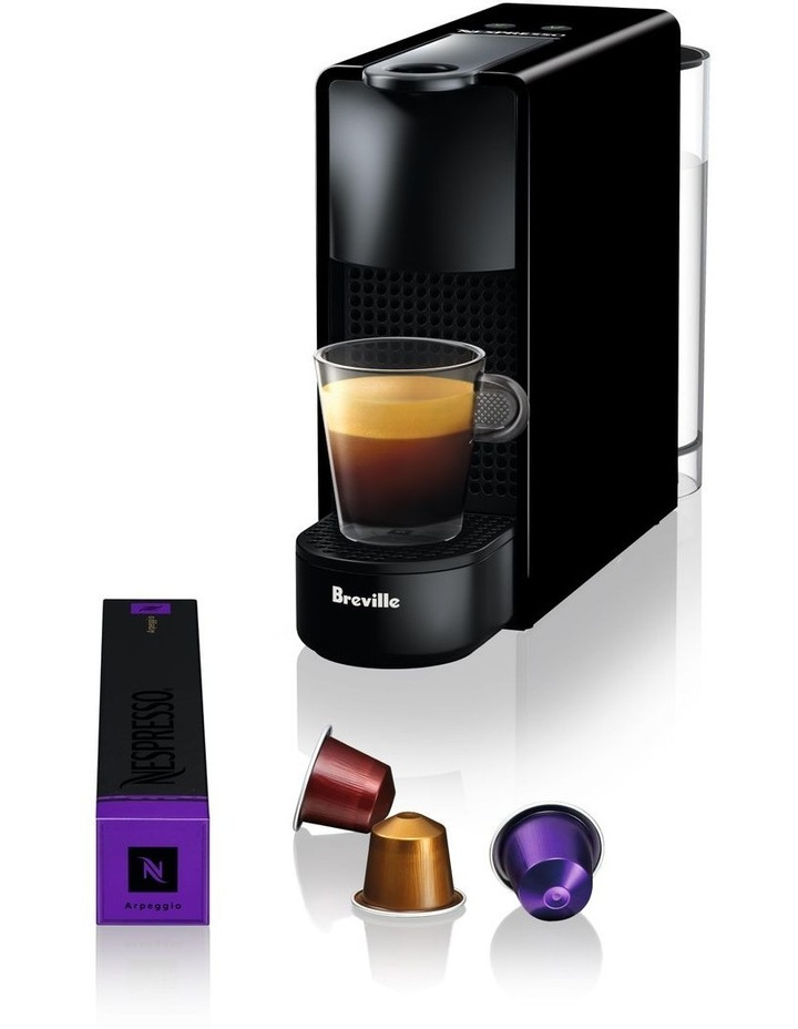 by Breville Essenza Mini & Milk Capsule Coffee Machine in Piano Black BEC250BLK image 2
