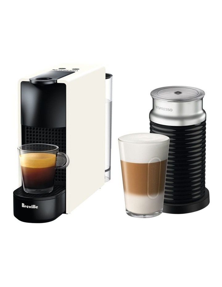 by Breville Essenza Mini & Milk Capsule Coffee Machine in Pure White BEC250WHT image 1