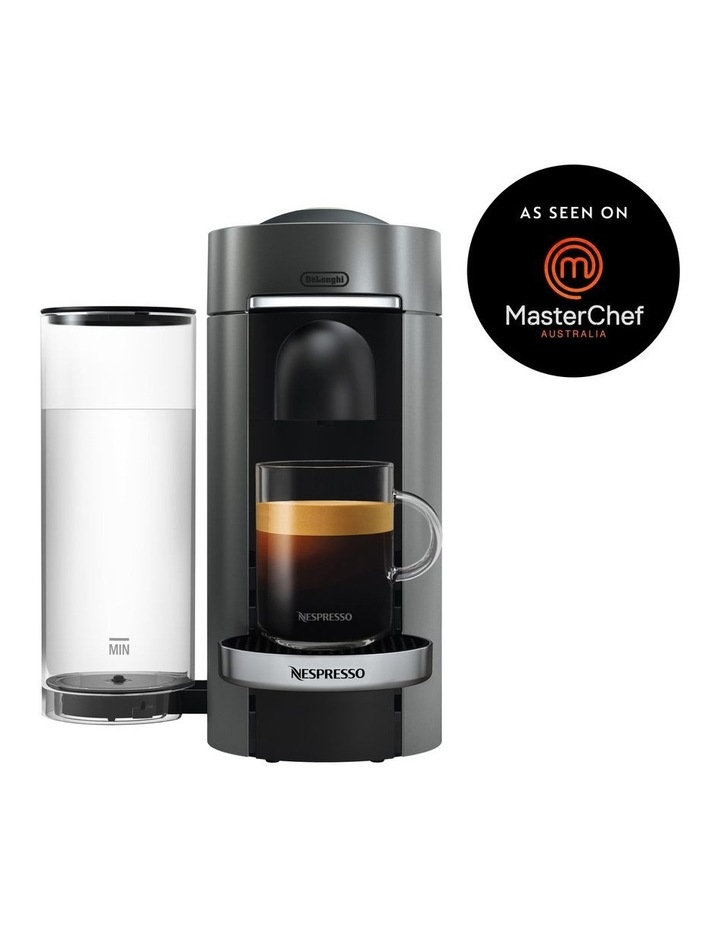 by Delonghi VertuoPlus Deluxe Capsule Coffee Machine: Titanium ENV155T image 1