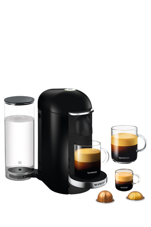 Nespresso by Breville VertuoPlus Deluxe capsule coffee machine BNV420BLK | Tuggl