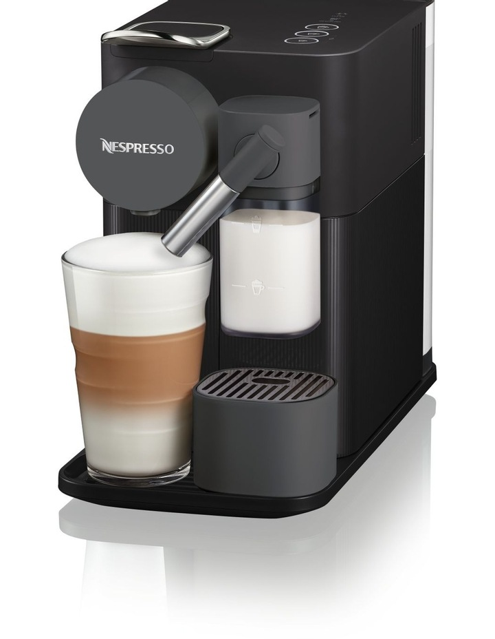 Delonghi Lattissima One Capsule Coffee Machine: EN500B Matt Black image 2