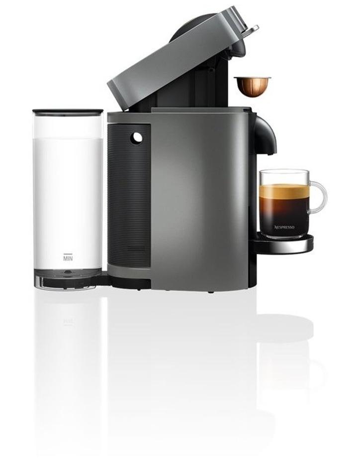 by Delonghi VertuoPlus & Milk Capsule Coffee Machine Titan ENV155TAE image 5
