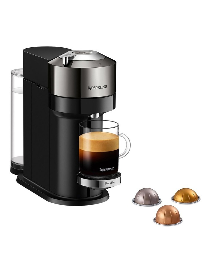 by Breville Vertuo Next Deluxe Capsule Coffee Machine with Aeroccino Dark Chrome BNV570DCR image 1