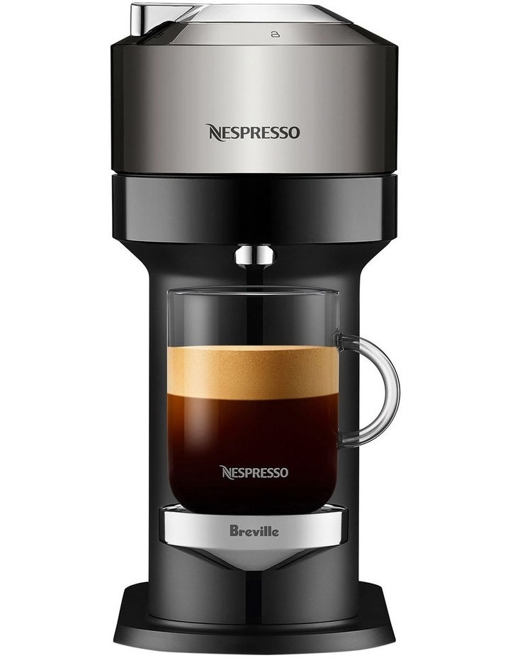 by Breville Vertuo Next Deluxe Capsule Coffee Machine with Aeroccino Dark Chrome BNV570DCR image 3