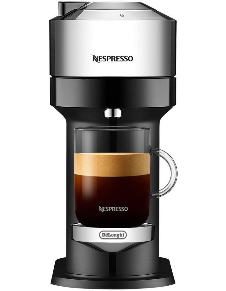 by De'Longhi Vertuo Next capsule coffee machine with milk frother Chrome ENV120CAE image 1