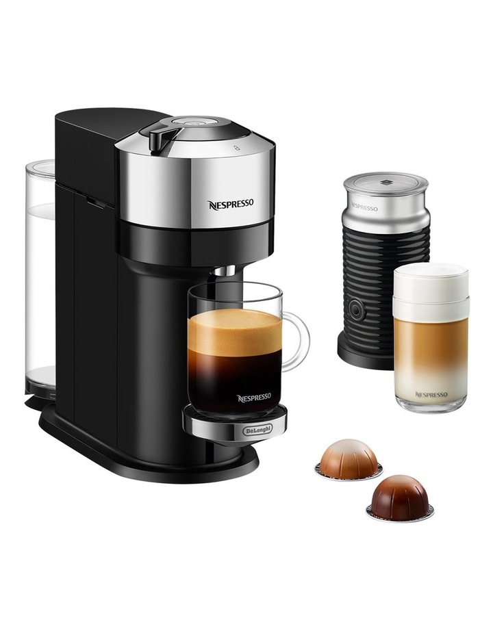 by De'Longhi Vertuo Next capsule coffee machine with milk frother Chrome ENV120CAE image 2