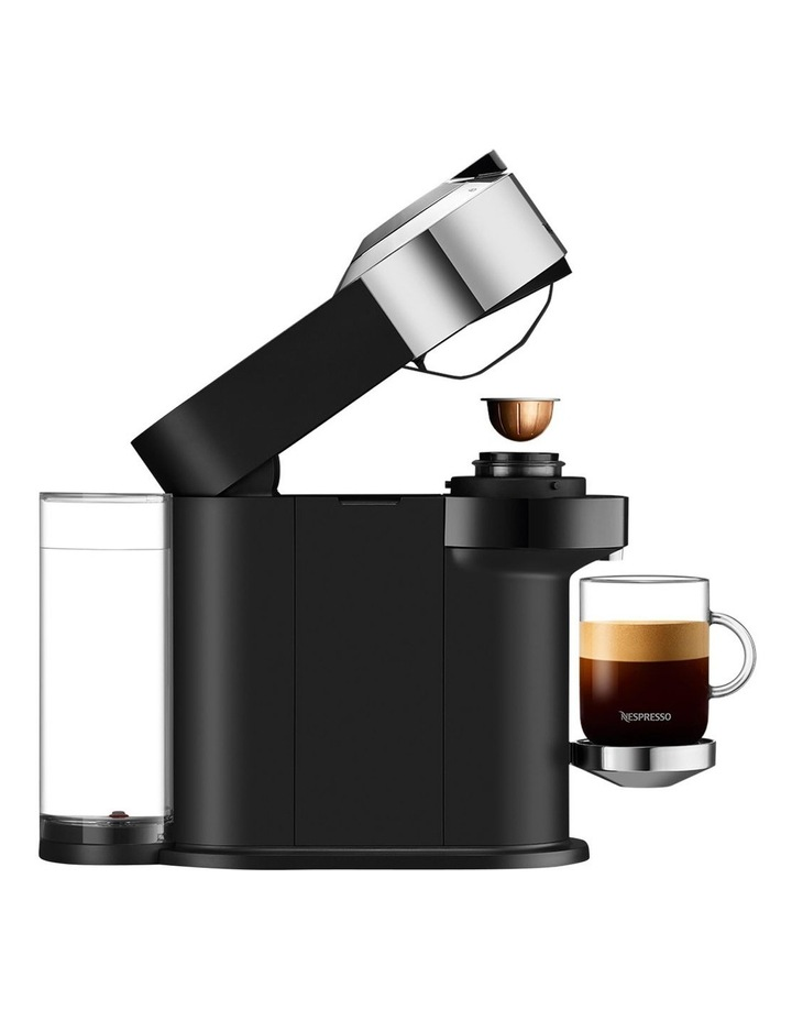 by De'Longhi Vertuo Next capsule coffee machine with milk frother Chrome ENV120CAE image 4