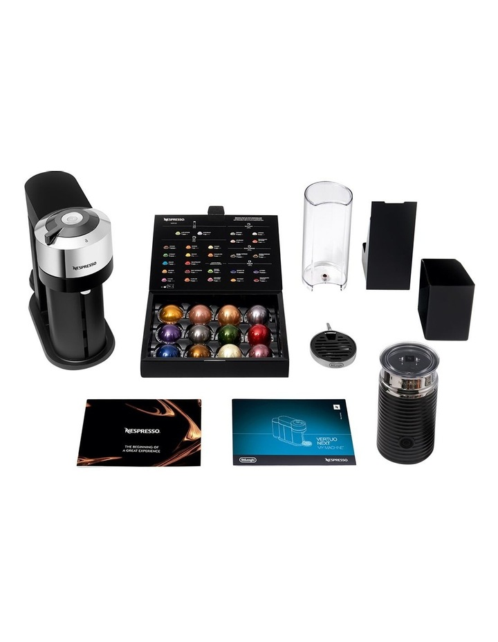 by De'Longhi Vertuo Next capsule coffee machine with milk frother Chrome ENV120CAE image 5