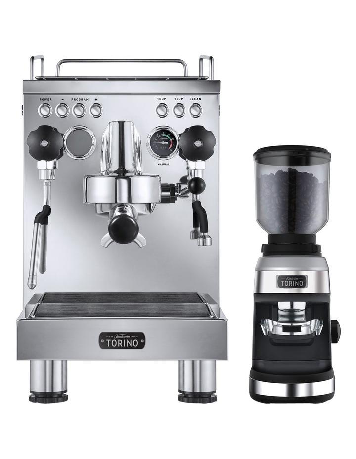 Torino Espresso Coffee Machine with Grinder PU8000: Stainless Steel image 1