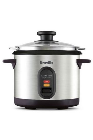 Breville - the Set & Serve 7 Cup rice cooker BRC310BSS