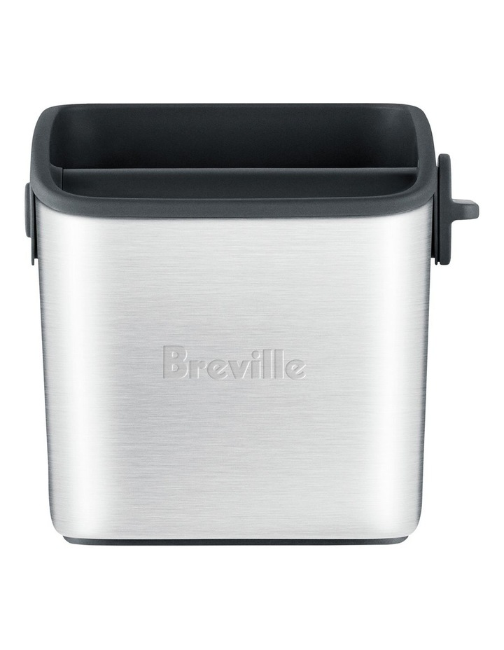 The Knock Box Mini Coffee Grinds Bin: Brushed Stainless Steel BES001BSS image 1