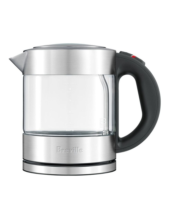 the Compact Kettle Clear Glass/Brushed Stainless Steel BKE395BSS image 1