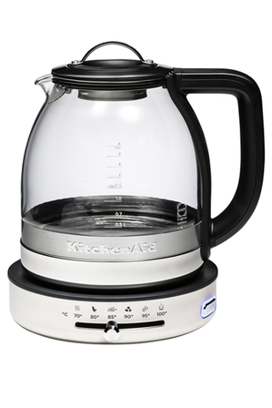 KitchenAid - Glass Kettle with Stainless Steel KEK1322