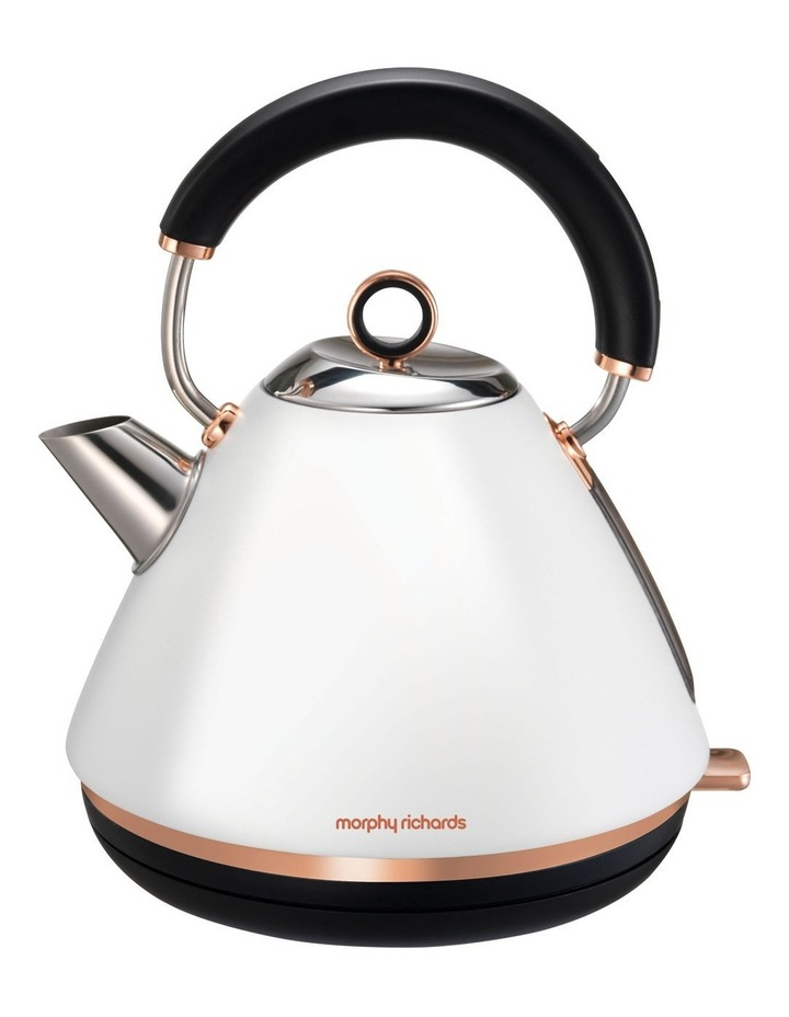 Accents Rose Gold Collection Kettle: Matte White 102108 image 1