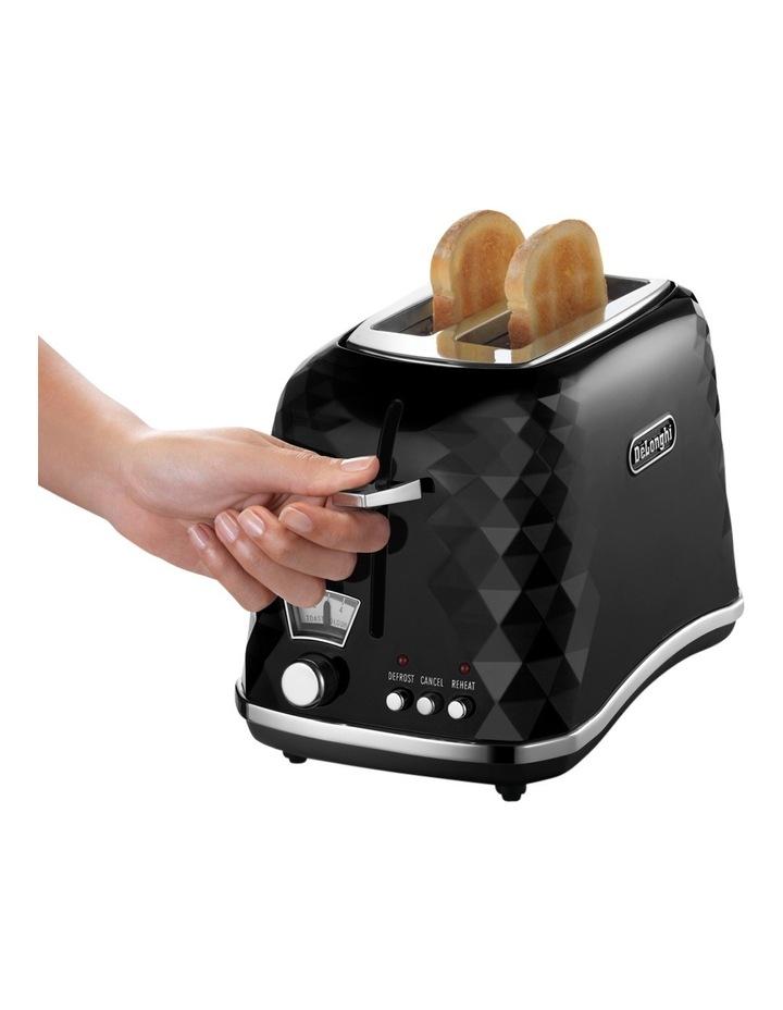 CTJ2003B Brilliante 2 Slice Toaster:Black image 4