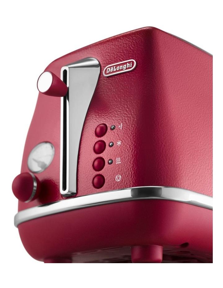 Icona Elements 2 Slice Toaster Flame Red CTOE2003R image 2