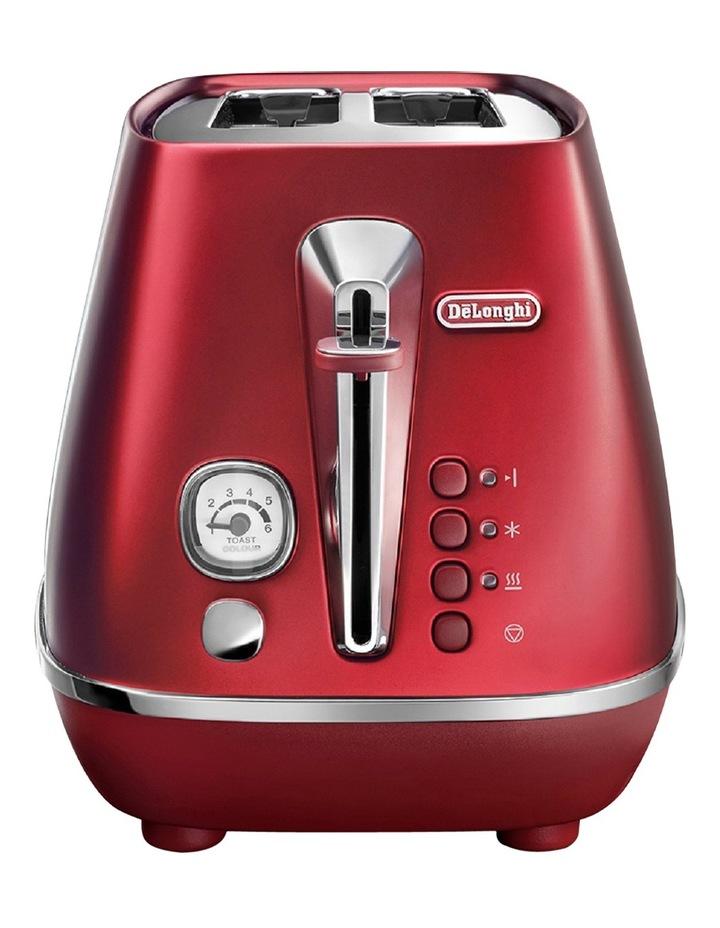 Distinta Flair 2 slice Toaster: Glamour Red CTI2003R image 2