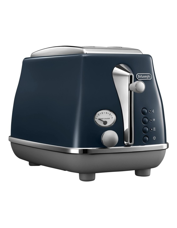 Icona Capitals London 2 Slice Toaster: Blue CTOC2003BL image 2