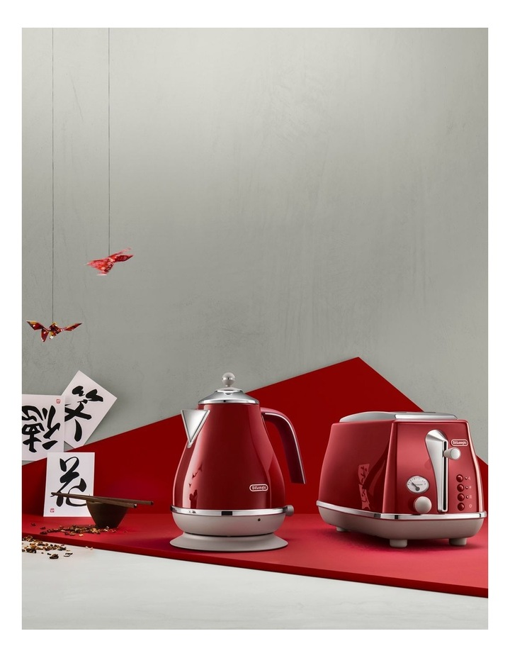 Icona Capitals Tokyo 2 Slice Toaster: Red CTOC2003R image 5
