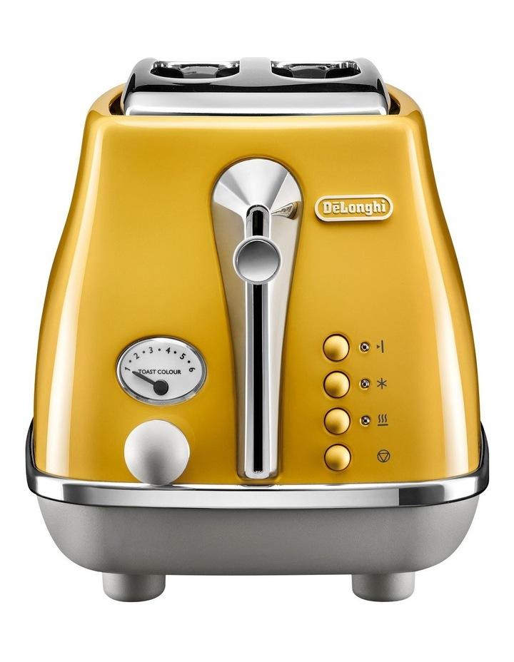 Icona Capitals New York 2 Slice Toaster Yellow CTOC2003Y image 1