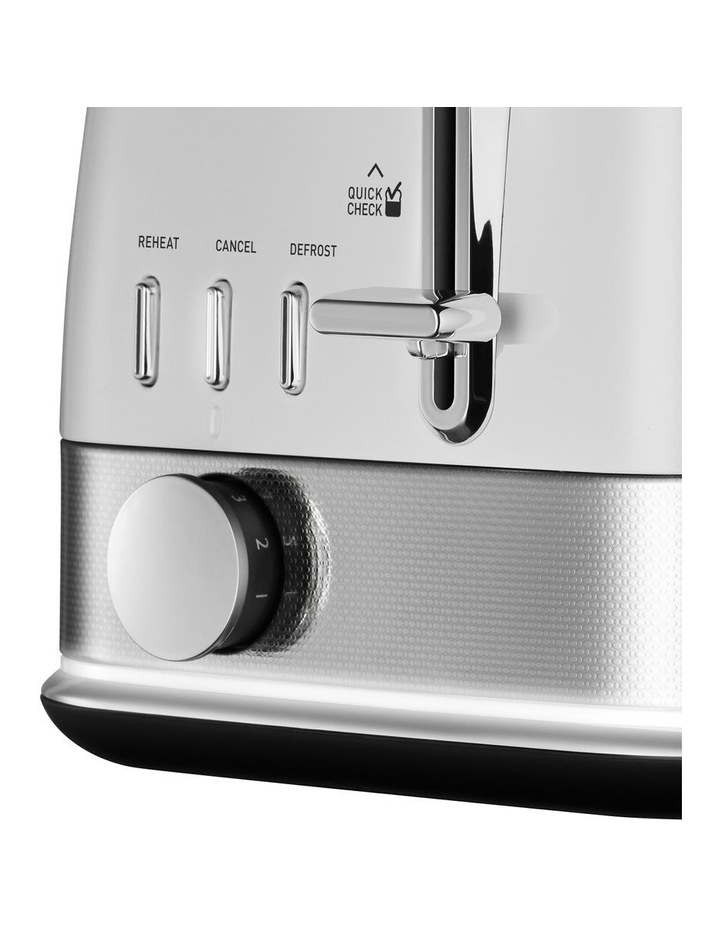 New York Collection 2 Slice Toaster White Silver TA4420WS image 2