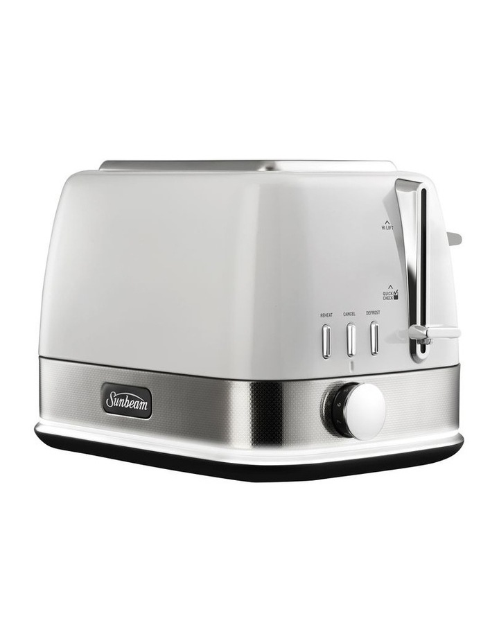 New York Collection 2 Slice Toaster White Silver TA4420WS image 3