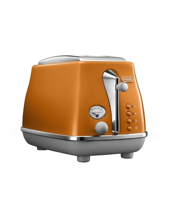 Icona Capitals 2 Slice Toaster - Rome Orange CTOC2003O image 1