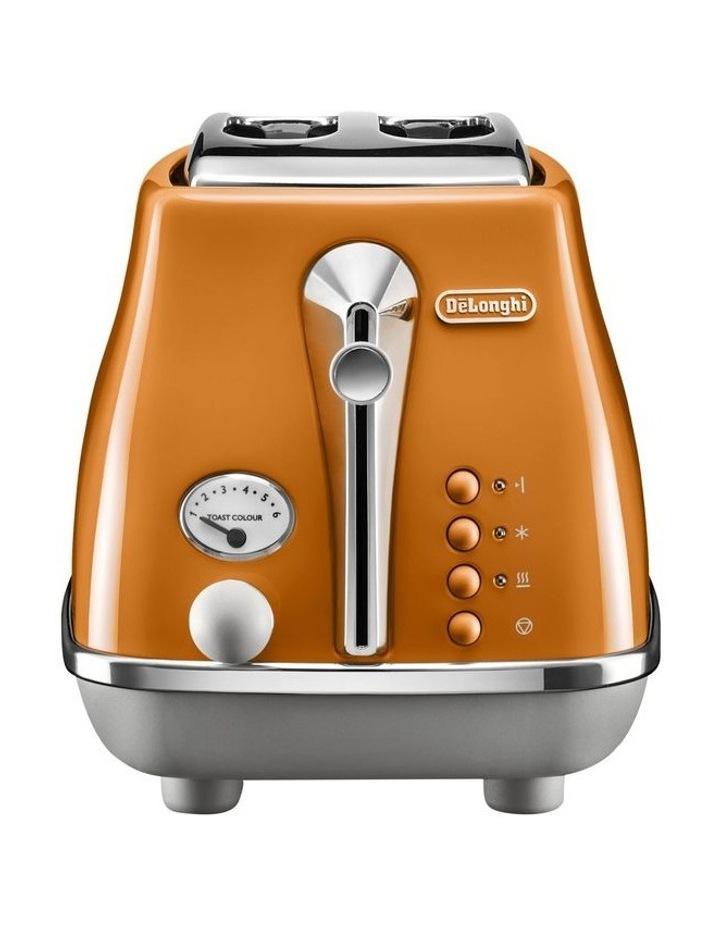 Icona Capitals 2 Slice Toaster - Rome Orange CTOC2003O image 2