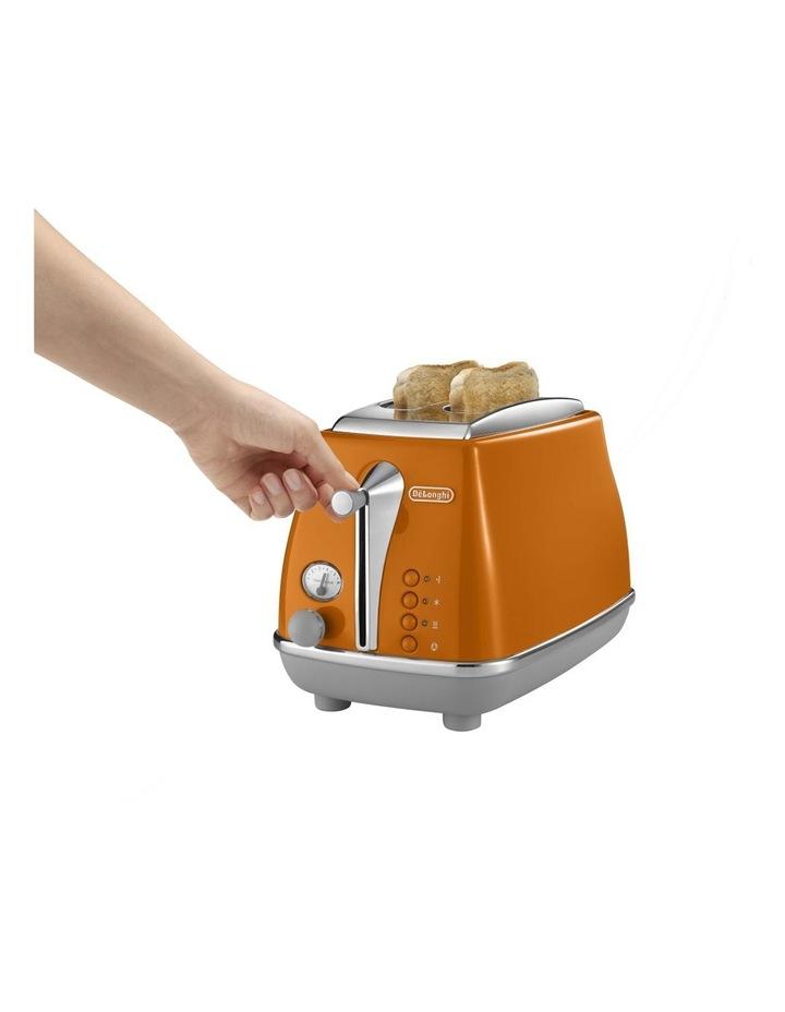 Icona Capitals 2 Slice Toaster - Rome Orange CTOC2003O image 3