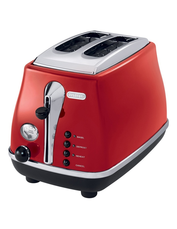 Icona 2 Slice Toaster - Red CTO2003R image 1