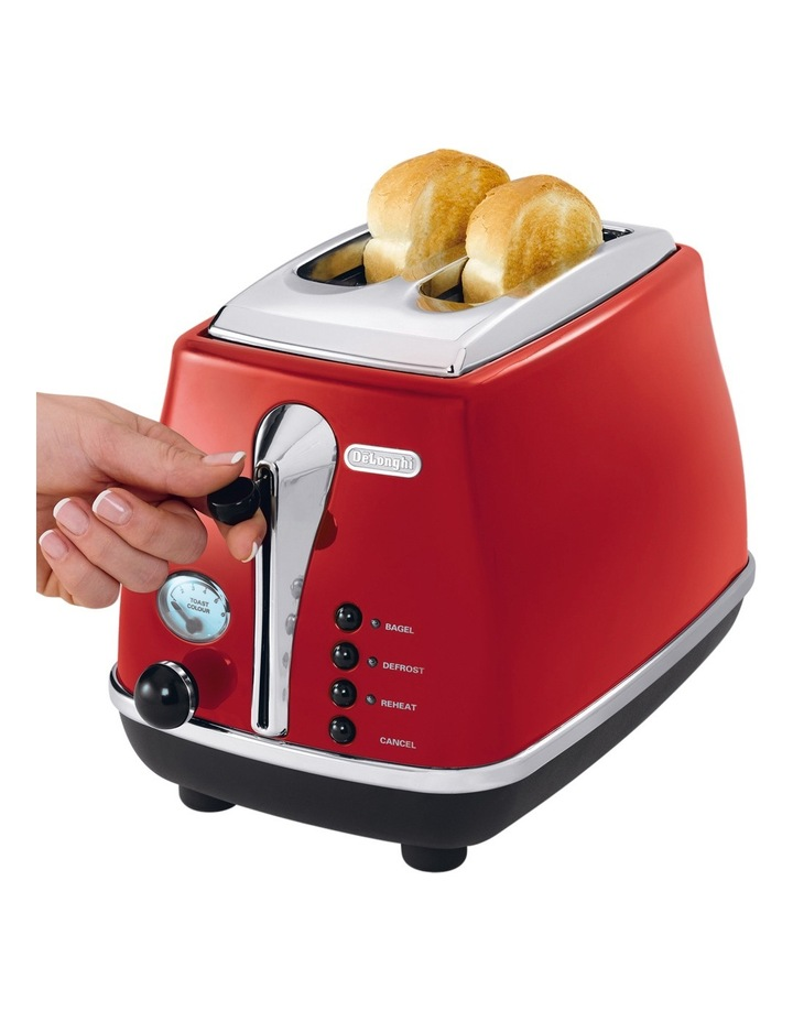 Icona 2 Slice Toaster - Red CTO2003R image 3