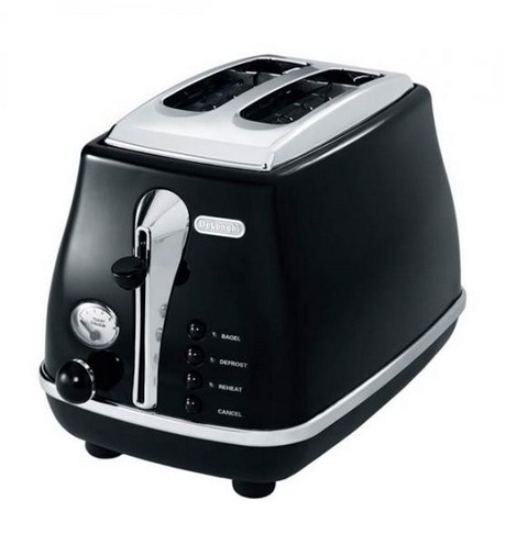 CT02003BK Icona 2 Slice Black Toaster image 1